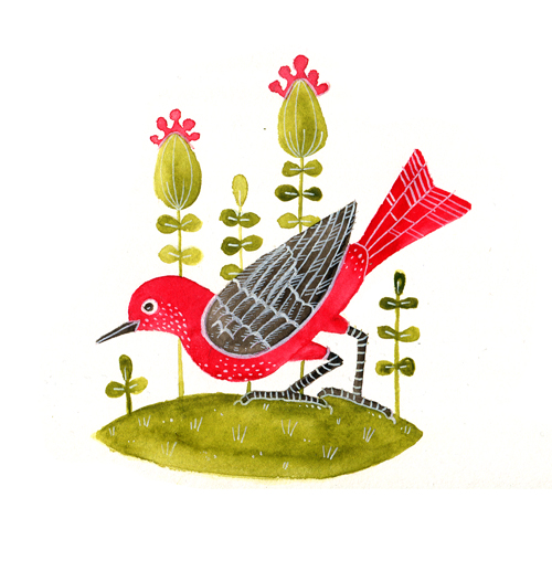 červený ptáček copy