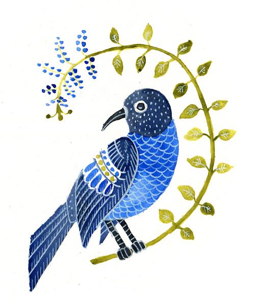 modrý ptáček copy