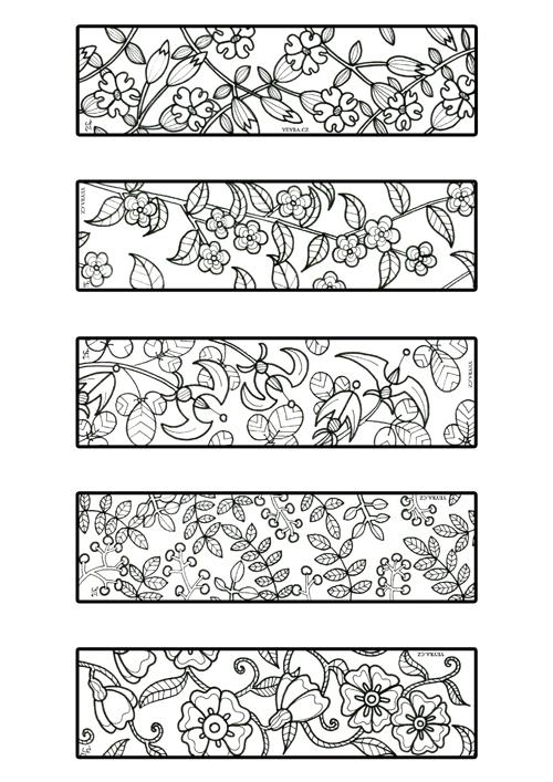 záložky květiny náhled
